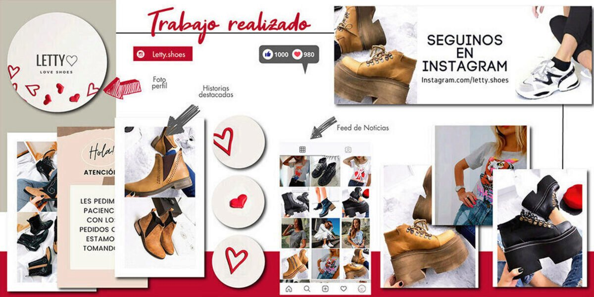 ejemplo feed instagram letty shoes